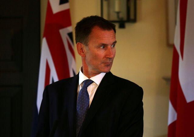 El ministro de Exteriores del Reino Unido, Jeremy Hunt