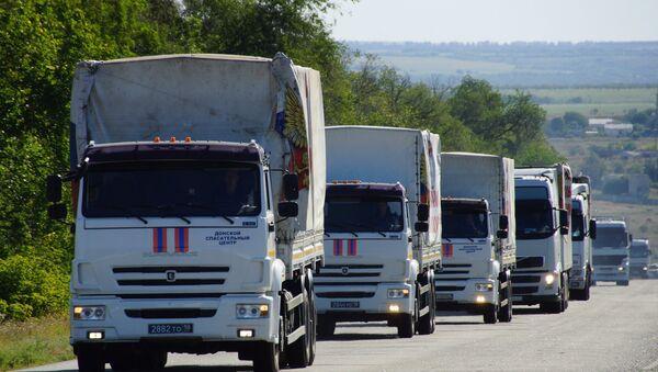Convoy humanitario ruso llega a Donetsk - Sputnik Mundo