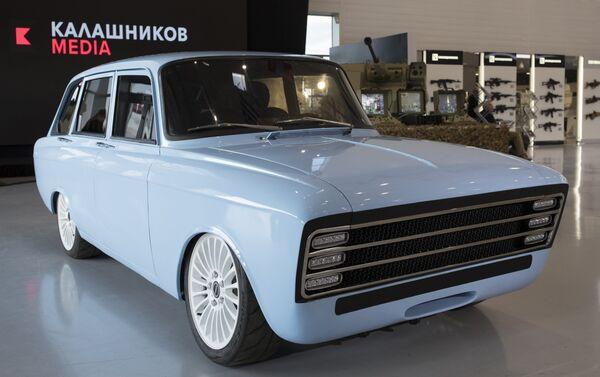 Un supercar eléctrico CV-1 del consorcio ruso Kalashnikov - Sputnik Mundo