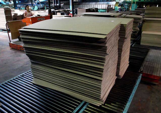 Fabricación de cartón (Archivo)