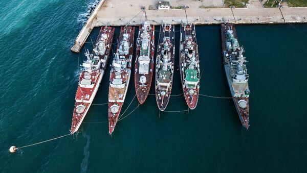 Los buques militares que anteriormente formaron parte de la Armada de Ucrania - Sputnik Mundo