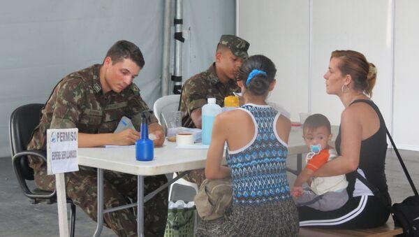 El puesto fronterizo de Pacaraima, estado de Roraima, Brasil - Sputnik Mundo
