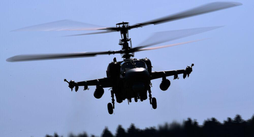Un helicóptero Ka-52