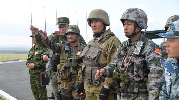Ejercicios antiterroristas conjuntos de la Organización de Cooperación de Shanghái (OCS) Misión de Paz 2018 - Sputnik Mundo