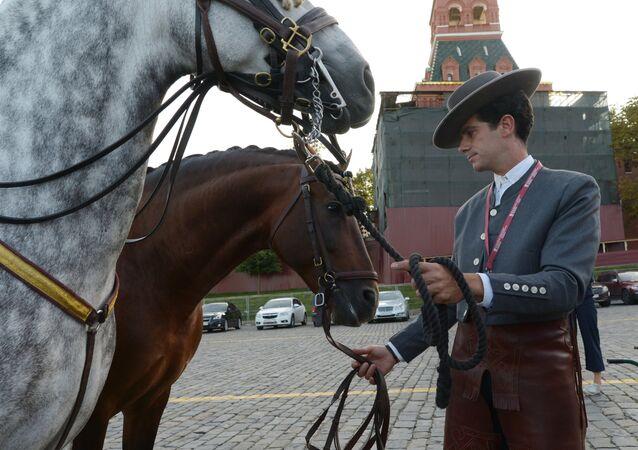 El equipo ecuestre de Córdoba se estrena en la Plaza Roja de Moscú