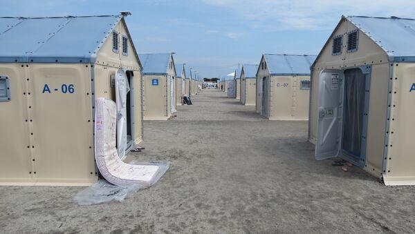 Casetas del campo de refugiados Rondon I en Boa Vista  - Sputnik Mundo