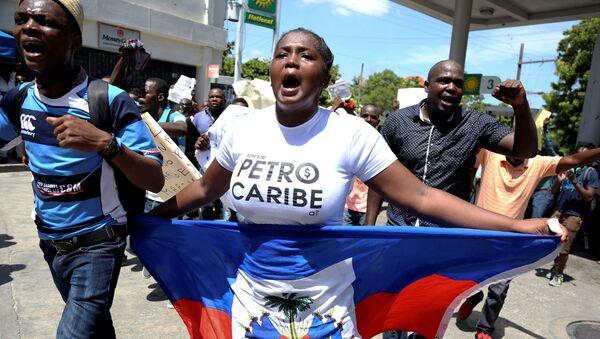 Protestas pacíficas en Haití contra la corrupción y la malversación de los fondos de Petrocaribe - Sputnik Mundo