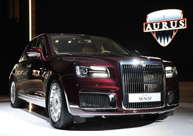 Todos los detalles del estreno del auto presidencial ruso Aurus Senat