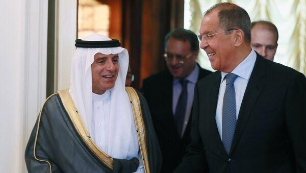 Встреча глав МИД России и Саудовской Аравии С. Лаврова и А. Аль-Джубейра - Sputnik Mundo