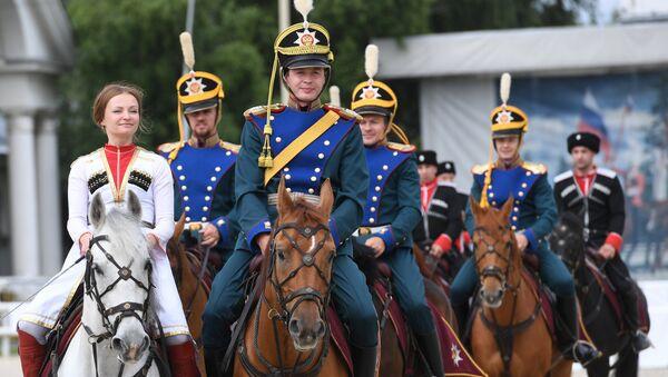 Jinetes de la Escuela de Equitación del Kremlin (archivo) - Sputnik Mundo