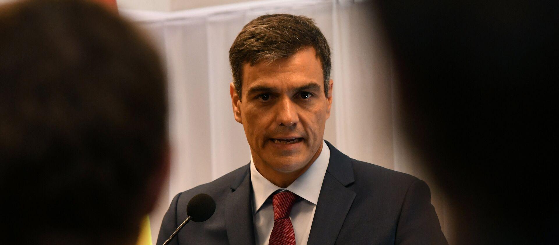 Pedro Sánchez, el presidente del Gobierno de España - Sputnik Mundo, 1920, 16.09.2018