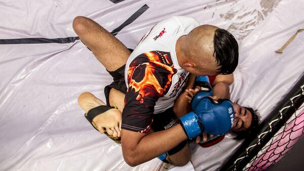 Dos peleadores durante una de las competencias del Torneo Nacional de Artes Marciales Mixtas - Sputnik Mundo