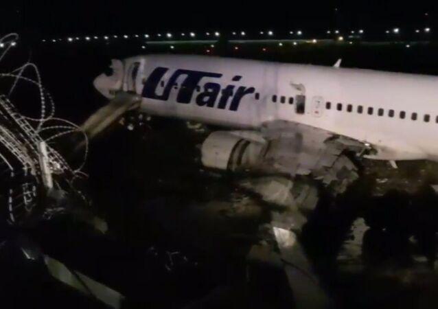 Incendio de un Boeing 737 en Rusia