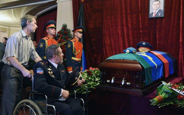 Funeral del líder de la república de Donetsk, Alexandr Zajárchenko - Sputnik Mundo