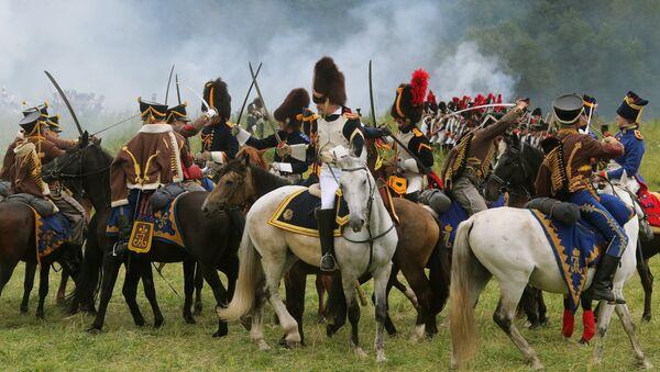 Reconstrucción histórica de la batalla de Borodinó, foto de archivo - Sputnik Mundo