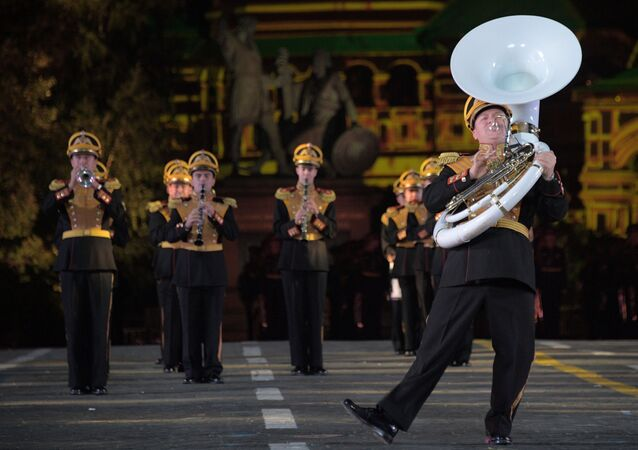 El Festival Internacional de Música Militar Torre Spásskaya (archivo)