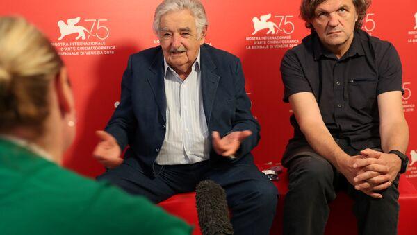 José Mujica, expresidente de Uruguay y Emir Kusturica, director de cine y músico serbio - Sputnik Mundo