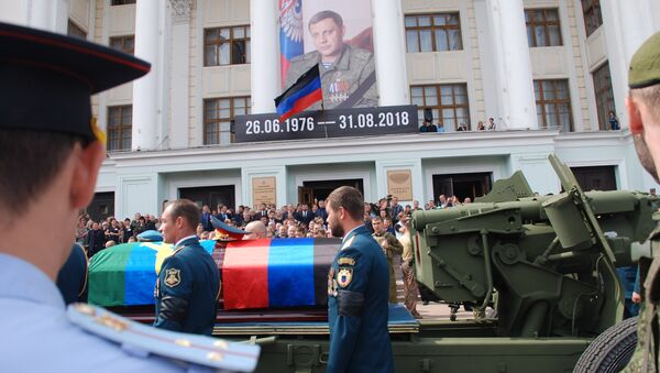 Despedida con el jefe de la República Popular de Donetsk, Alexandr Zajárchenko - Sputnik Mundo
