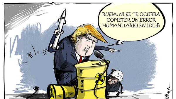 La paja en el ojo ajeno: Trump advierte a Moscú de un error humanitario en Siria - Sputnik Mundo