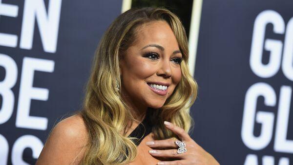 Mariah Carey en la 75 Gala Anual de los Globos de Oro en California - Sputnik Mundo
