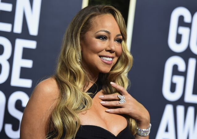 Mariah Carey en la 75 Gala Anual de los Globos de Oro en California