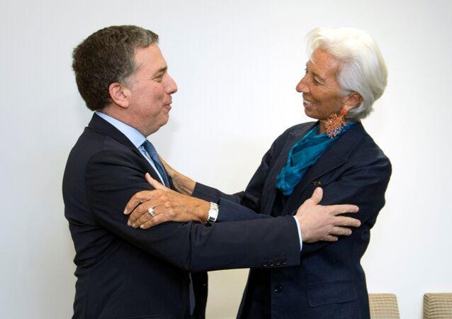 Ministro argentino de Economía, Nicolás Dujovne, y directora gerente del FMI, Christine Lagarde
