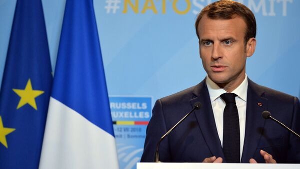El presidente galo Emmanuel Macron - Sputnik Mundo