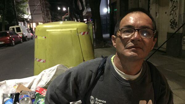 Julio Molina, recolector de las calles de Buenos Aires, Argentina - Sputnik Mundo