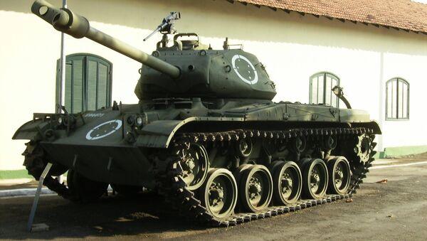 Un tanque M41, expuesto en un museo brasileño (archivo) - Sputnik Mundo