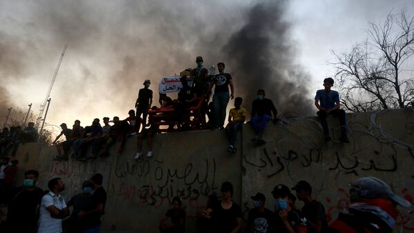 Protestas en Basora, Irak - Sputnik Mundo
