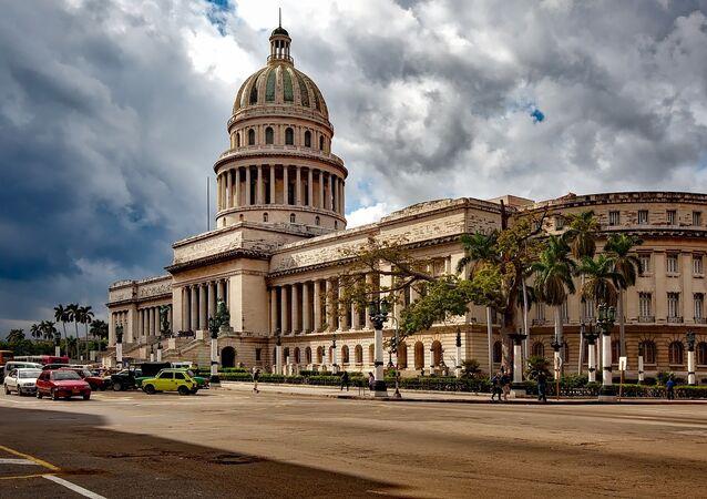 Edificio del Capitolio en La Habana (Cuba)