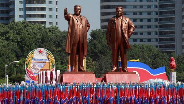 Desfile en honor al 70 aniversario de la República Popular Democrática de Corea - Sputnik Mundo