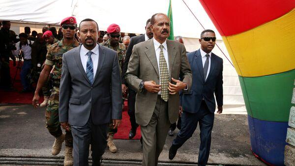 El presidente de Eritrea, Isaias Afwerki, y el primer ministro de Etiopía, Abiy Ahmed Ali - Sputnik Mundo
