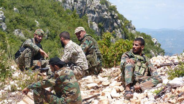 Militares sirios en Latakia (archivo) - Sputnik Mundo