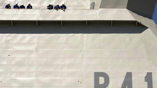Los trabajadores del astillero de Navantia de Cádiz, España (archivo) - Sputnik Mundo