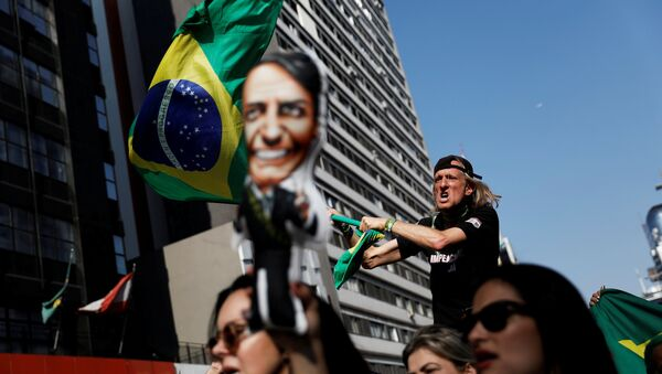 Partidarios del candidato Jair Bolsonaro - Sputnik Mundo