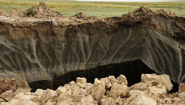 El cráter en Yamal - Sputnik Mundo