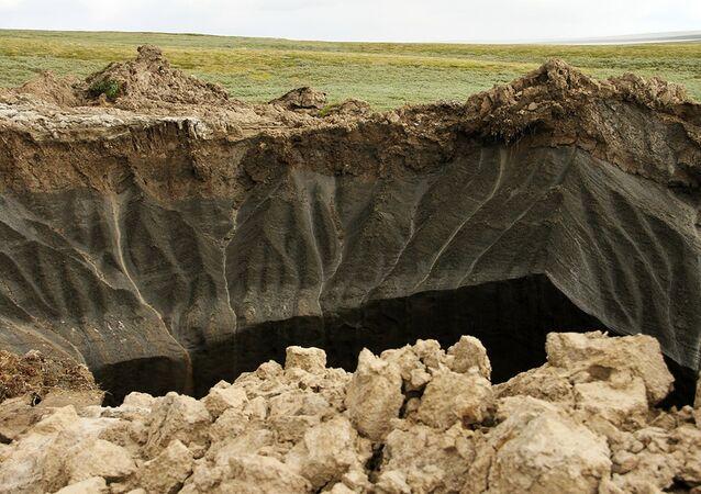 El cráter en Yamal