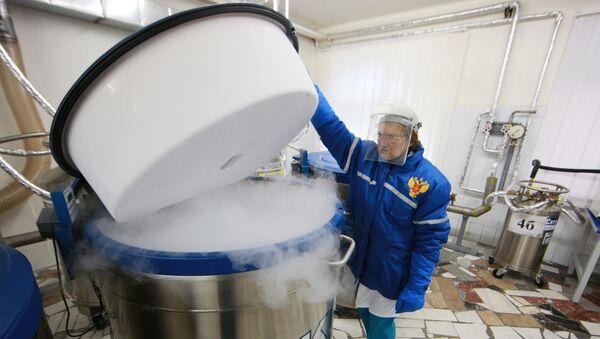 Un almacén criogénico (imagen ilustrativa) - Sputnik Mundo