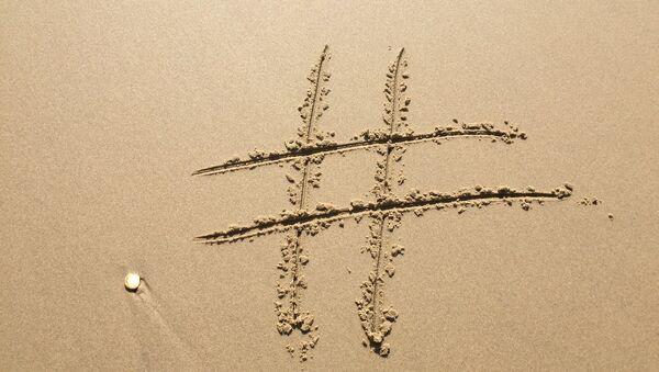 Un símbolo de numeral, o hashtag - Sputnik Mundo