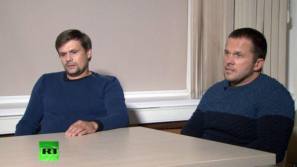 La entrevista de Alexandr Petrov y Ruslán Boshírov al canal RT - Sputnik Mundo