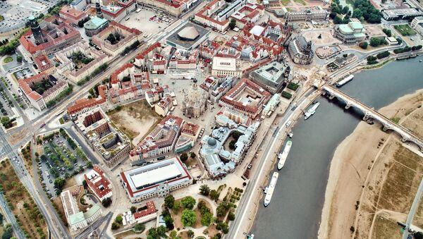 La vista aérea de Dresde, Alemania - Sputnik Mundo
