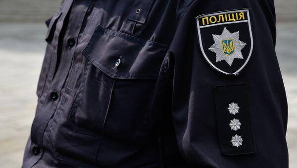 Un miembro de la Policía Nacional de Ucrania, en Kiev (archivo) - Sputnik Mundo