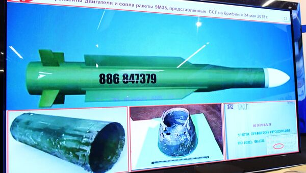 El misil que derribó al MH17 en Ucrania en 2014, revelado por el Ministerio de Defensa de Rusia - Sputnik Mundo