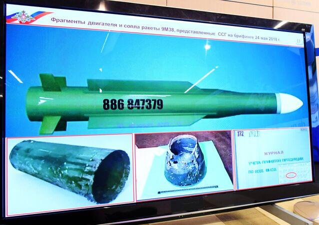 El misil que derribó al MH17 en Ucrania en 2014, revelado por el Ministerio de Defensa de Rusia