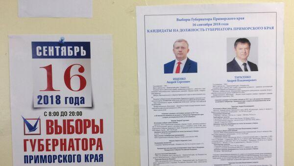 La segunda ronda de las elecciones a gobernador en la región de Primorie - Sputnik Mundo