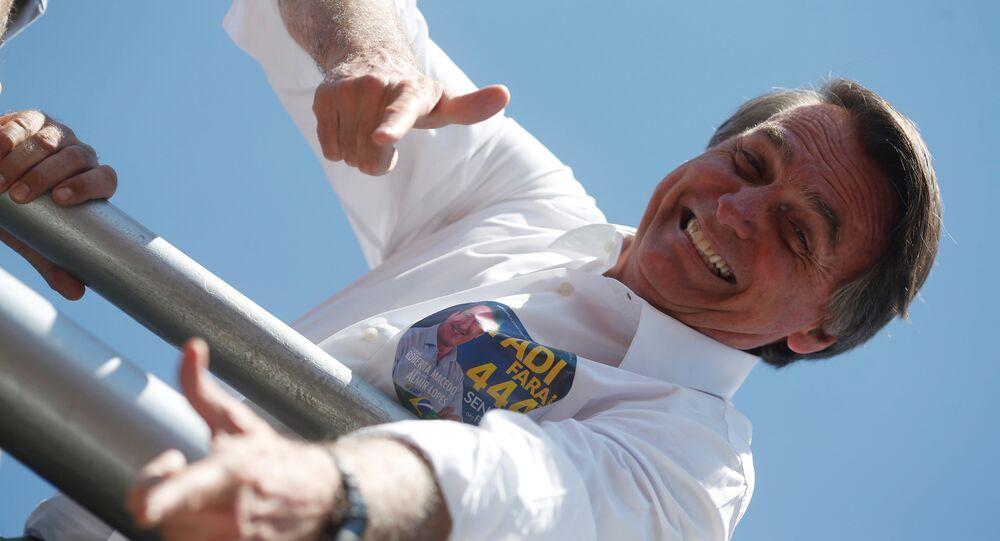 El candidato presidencial brasileño de ultraderecha Jair Bolsonaro