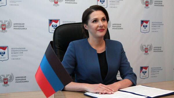 La nueva jefa de la Comisión Electoral Central de la autoproclamada República Popular de Donetsk, Olga Pozdniakova - Sputnik Mundo