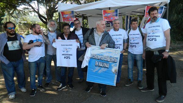 Excombatientes de Malvinas protestan contra puesto de las 'Falklands' en La Rural del Prado, Uruguay - Sputnik Mundo