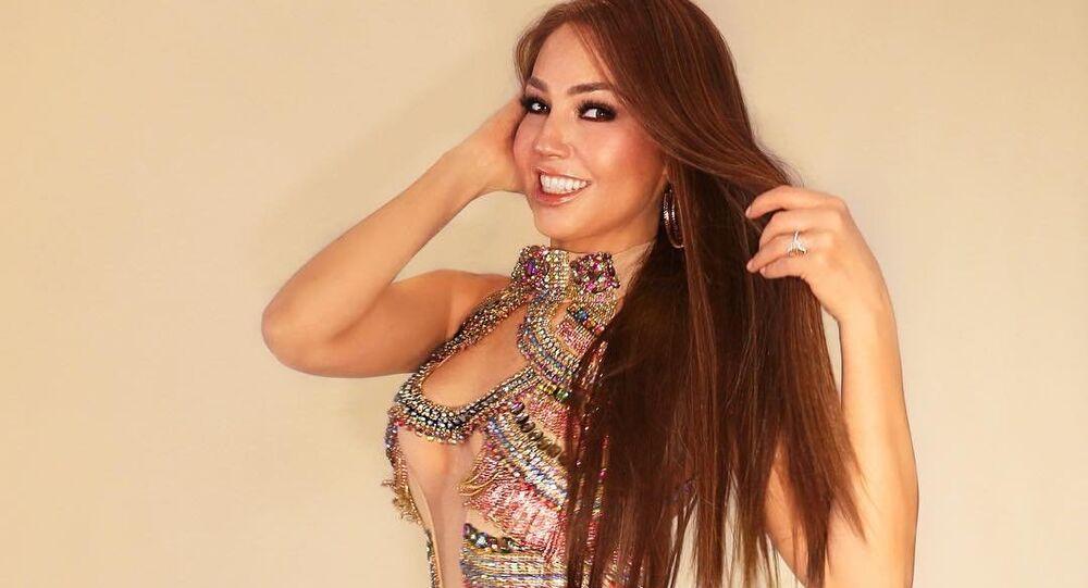 Thalía, actriz estrella de la televisión mexicana.